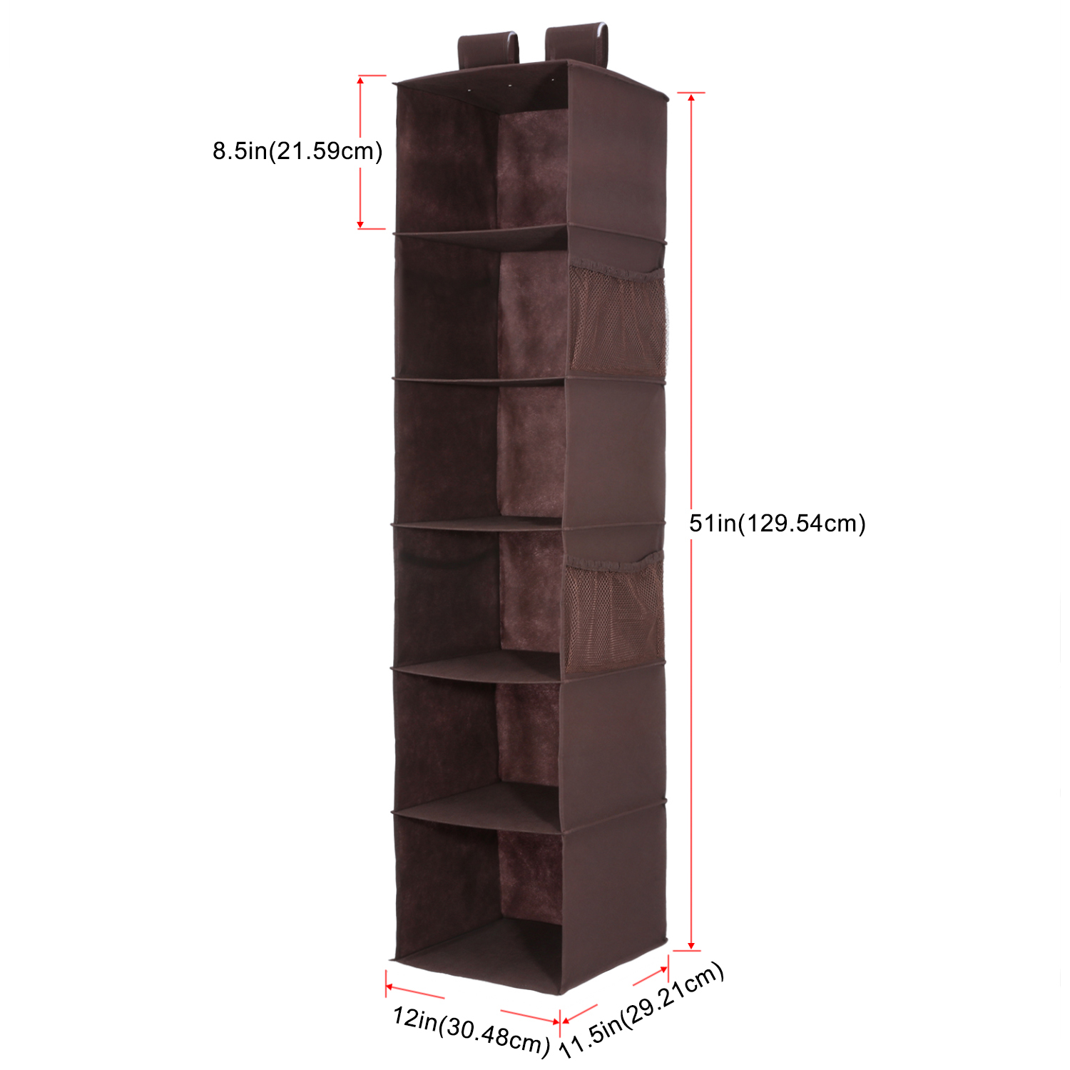 Details About 6 Shelf Collapsible Closet Hanging For Sweater Socks Organize Storage