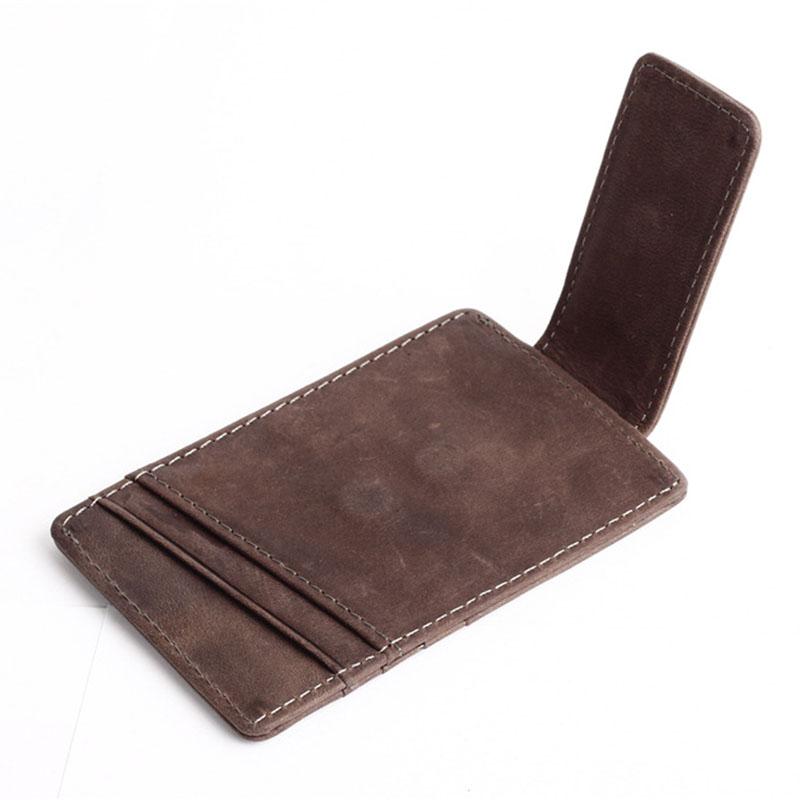 Slim-Men-s-Leather-Magnet-Wallet-Credit-Card-ID-Holder-Money-Clip-Front-Pocket thumbnail 11