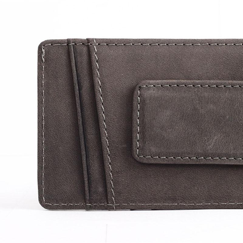 Slim-Men-s-Leather-Magnet-Wallet-Credit-Card-ID-Holder-Money-Clip-Front-Pocket thumbnail 16