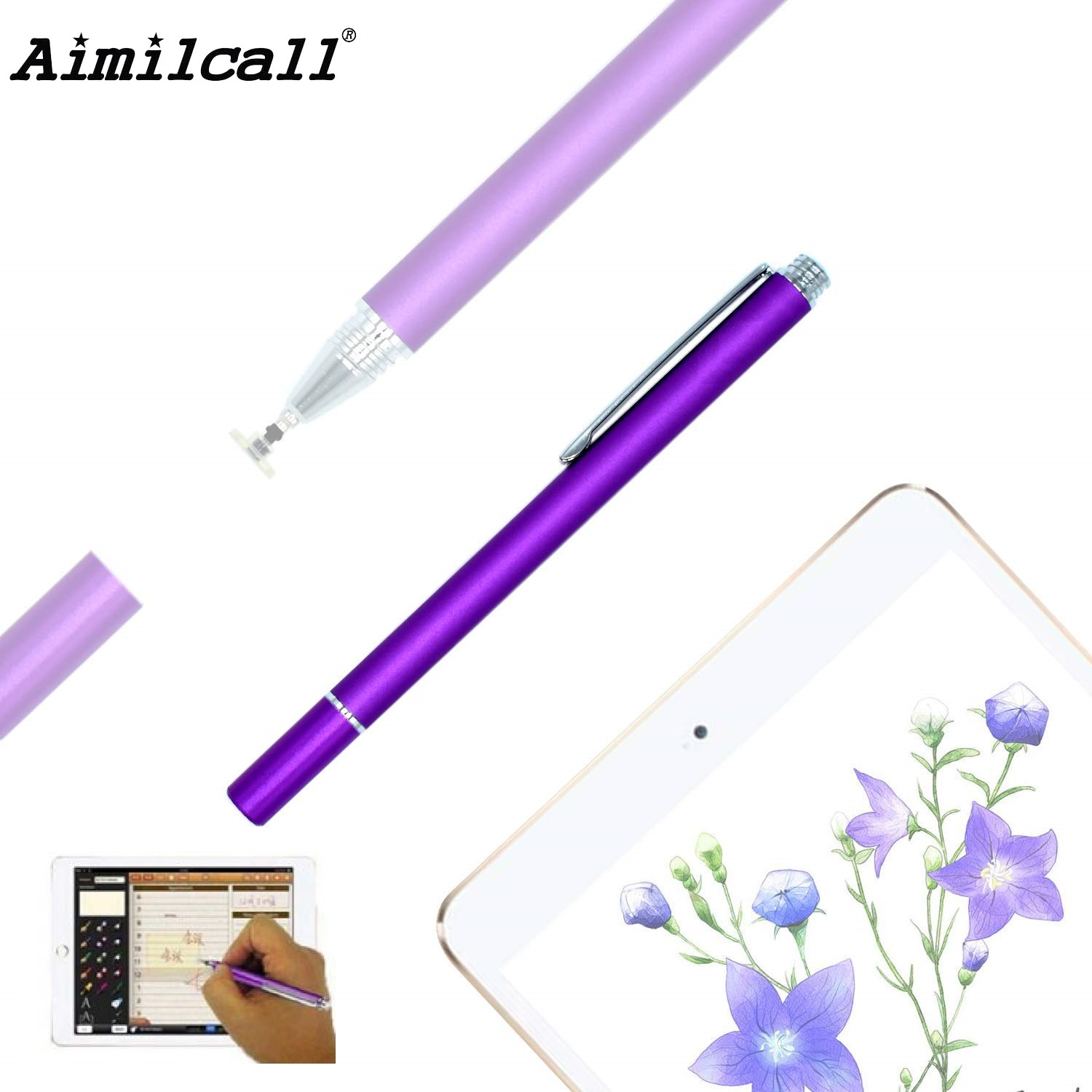 Fine Point Round Thin Tip Capacitive Touch Stylus Pen For iPhone iPad Samsung