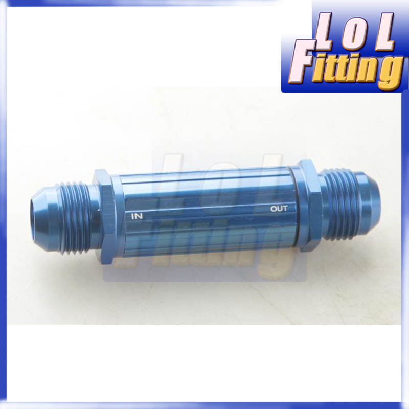 9mm Silver Anodised Billet Magnetic Fuel Filter 30 Micron