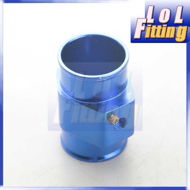 42mm Water Temperature Sensor Joint Pipe Gauge Radiator Hose Adapter Blue