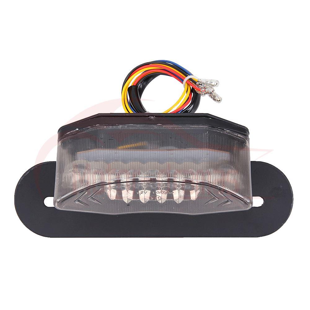 motorcycle 16 led atv tail light indicator turn signal brake license plate  light