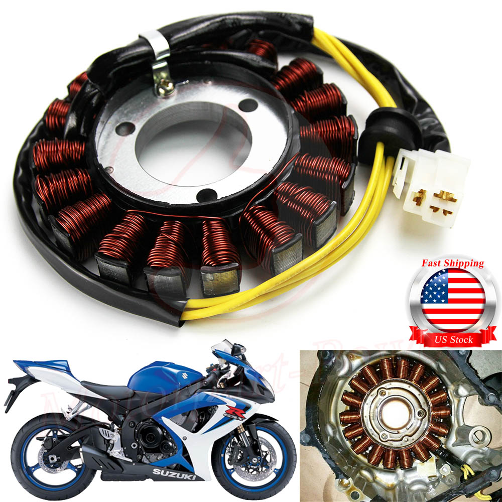NICHE Stator Assembly For 2006-2016 Suzuki GSX-R600 GSX-R750 31401-01H00 31401-01H10 31401-01H20