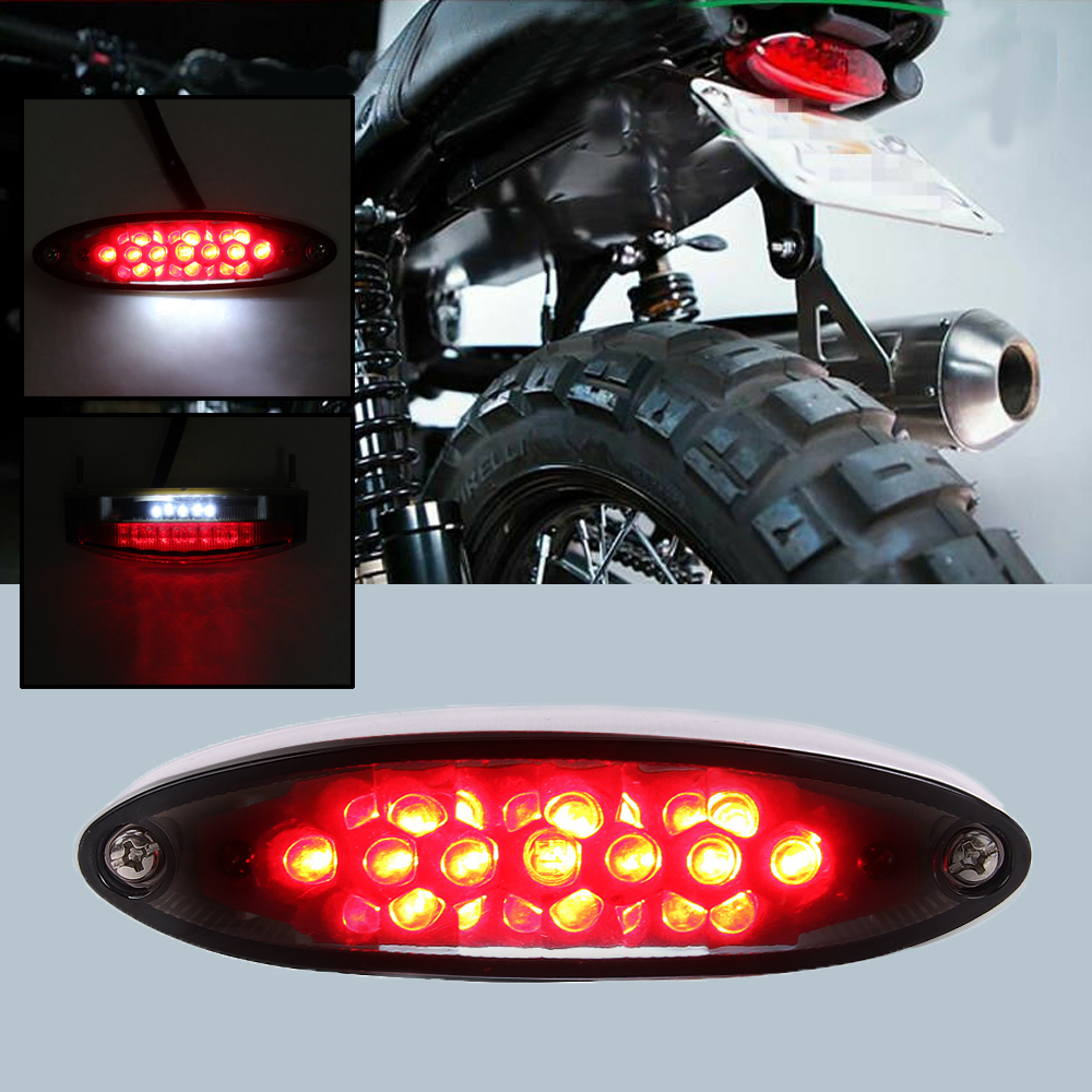 Mini 12V LED Rear Brake License Plate Light for BMW Harley Custom Sport Bike ATV