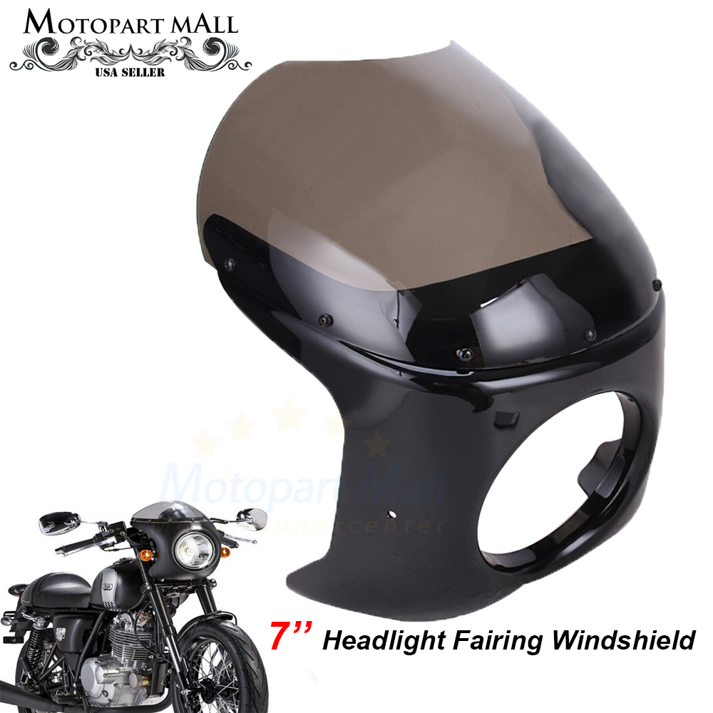 Headlight Fairing Screen Black Smoke For Yamaha XJ 550 650 750 Seca//Maxim