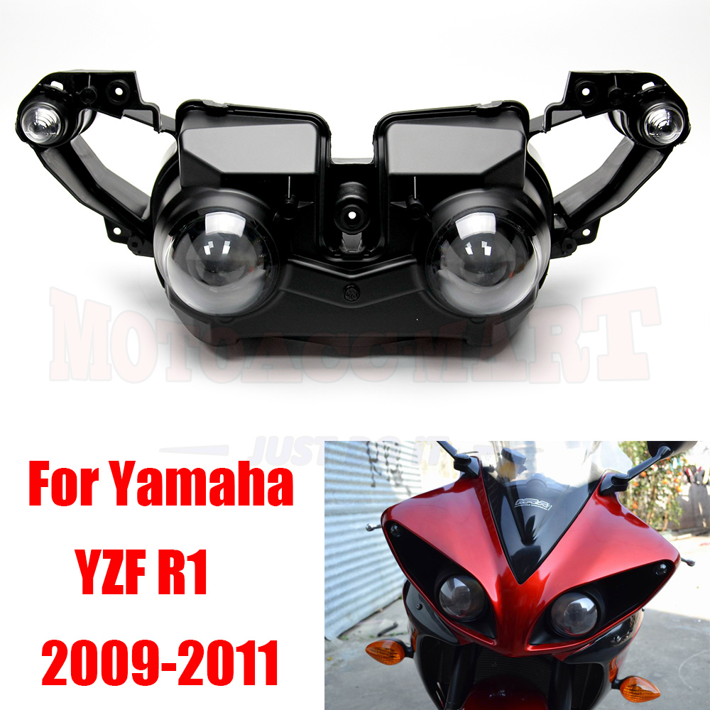 Moto Front Headlight Head Lamp Assembly For Yamaha YZF-R1 YZF R1 2009-2011 2010