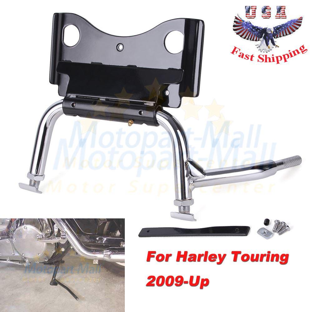 Motorcycle Adjustable Chrome Service Center Stand Jack For Harley Davidson Model