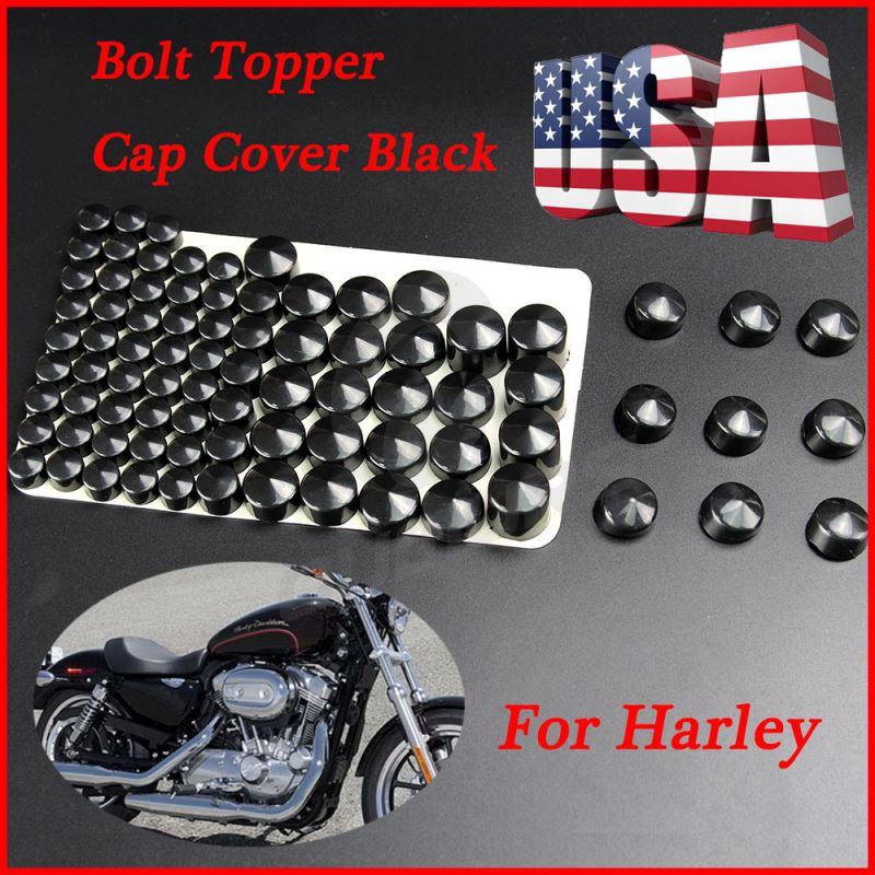 Bolt Toppers Caps Chrome Bike Frame Bolt Cover Kit For 1998 Harley Davidson Road King Twin Cam FLH