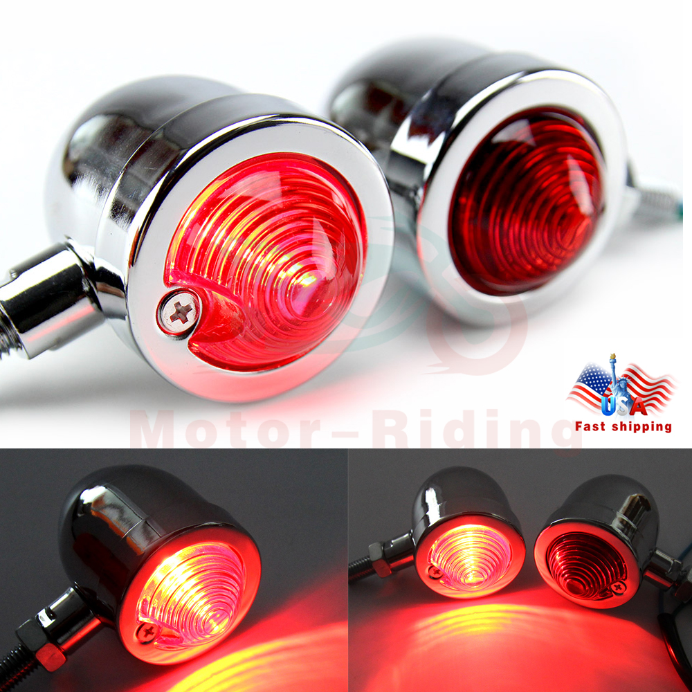 Motorcycle Bullet LED Turn Signal Light Blinker Indicator Front Rear Tail Light for Harley Honda Yamaha Suzuki Chopper Bobber