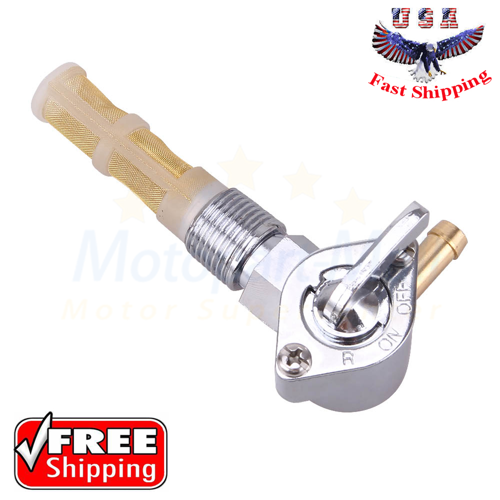 Chrome Fuel Tap Valve Petcock For Harley High Flow 90