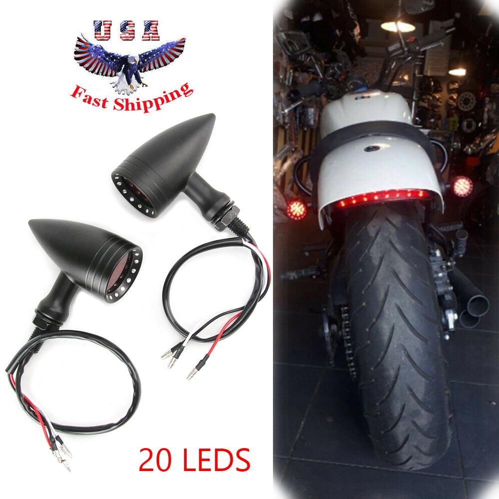 1 Pair Motorcycle Bullet Stop Brake Running Led Turn