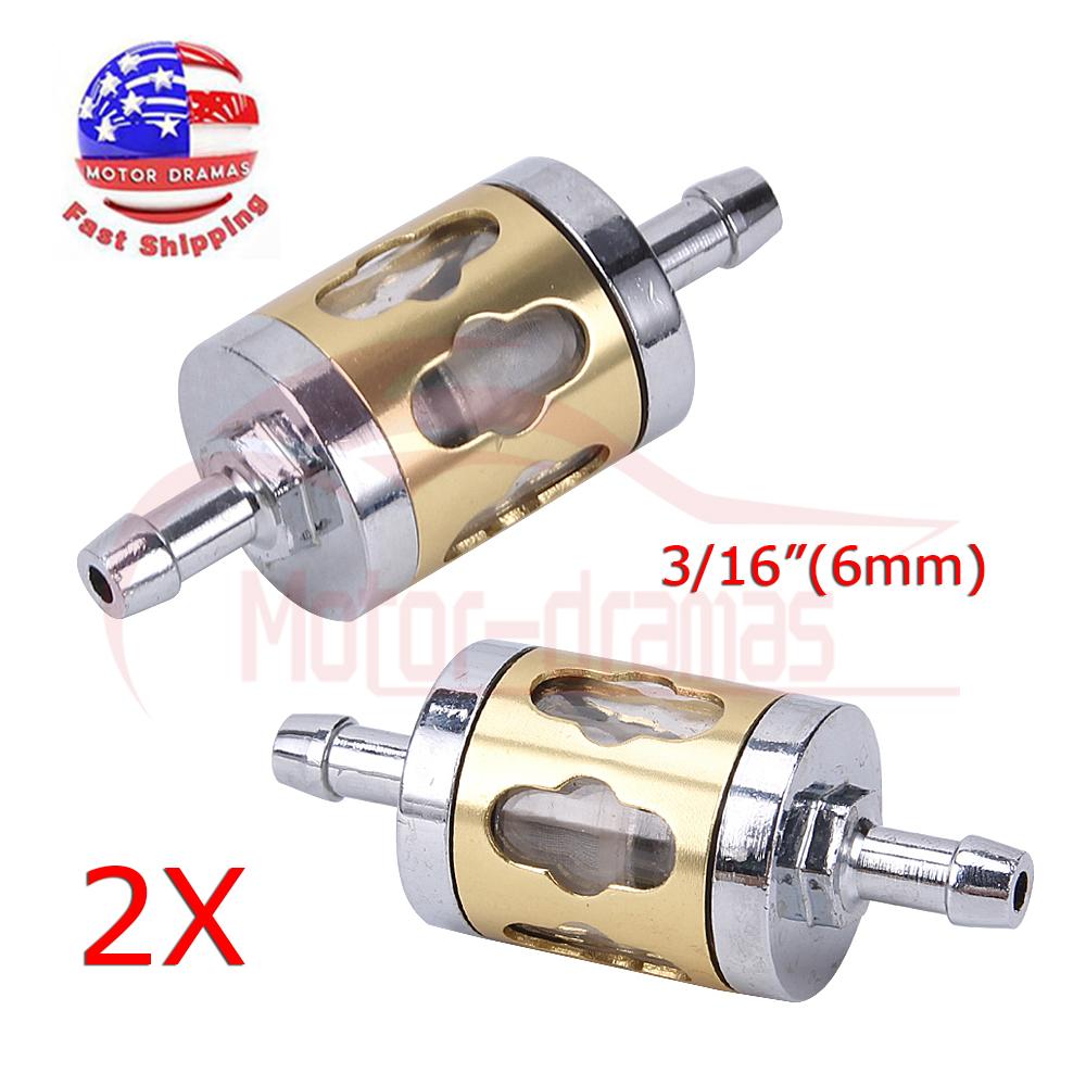 [SCHEMATICS_4FD]  2x Inline Gas Fuel Filter 6mm-7mm 1/4