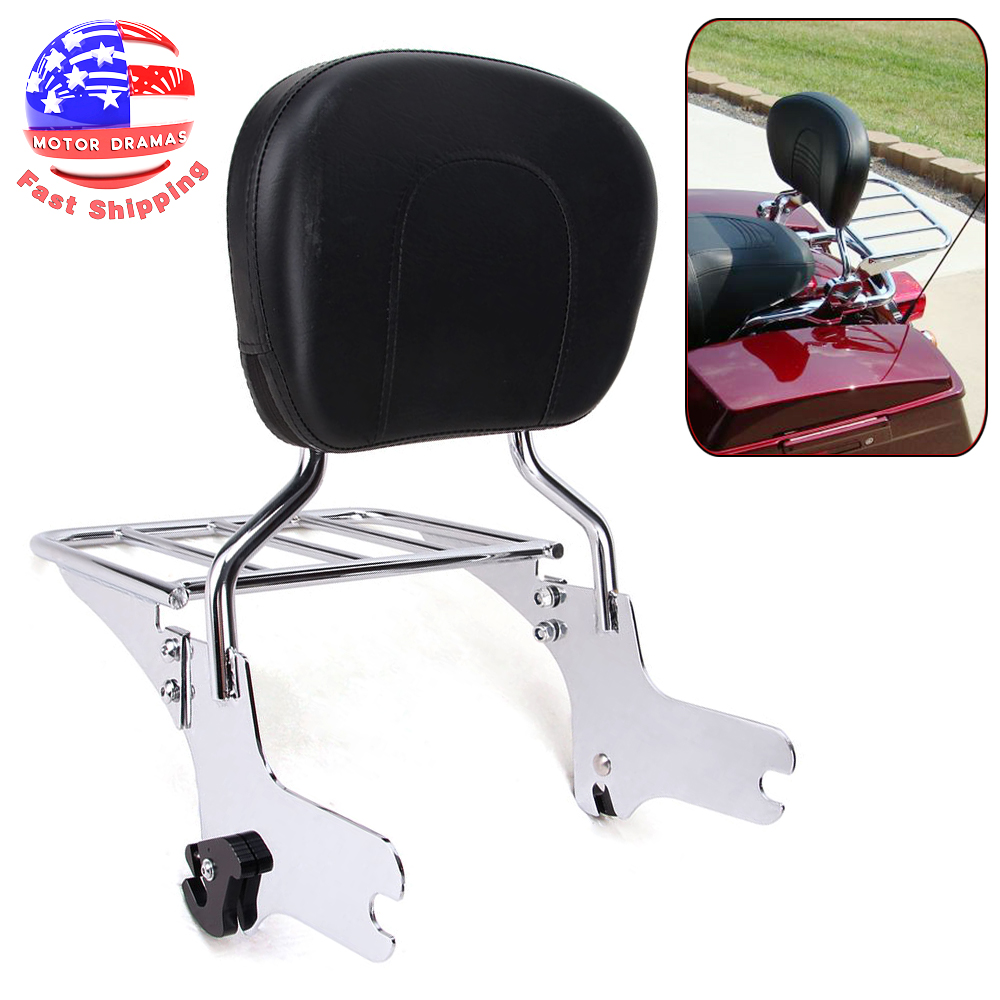 Quick Detachable Sissy Bar With Backrest for 1997-2008 Harley Road Glide