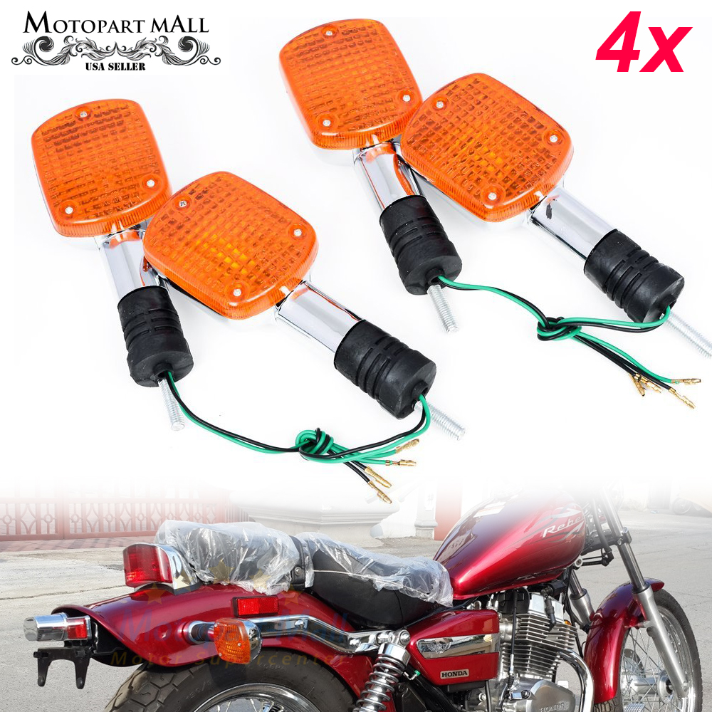 4pcs Motorbike Blinker Turn Signal Light Lamp Compatible with Honda REBEL CA250 400 CMX250 CMX400 MAGNA VF250 VF750