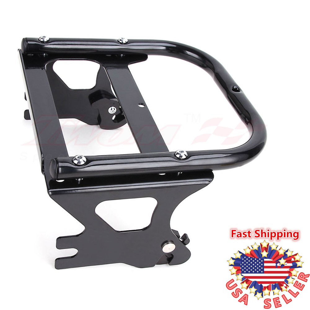 Detachable Two-up 2-Up Tour Pak Pack Mount Luggage Rack For Harley Touring 97-08
