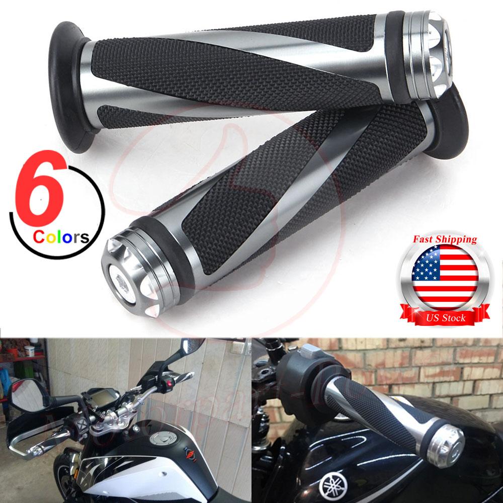 "USA MOTORCYCLE HAND GRIPS 7//8/"" HANDLEBAR GEL FOR SUZUKI GSXR 600 750 1000 Honda"