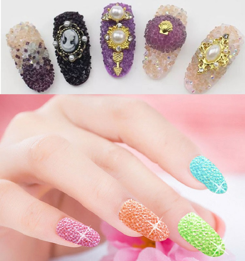 1440pcs 11 13mm Zircon Diamond 3d Mini Nail Art Rhinestone Crystal
