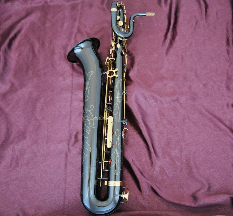 Professional Taishan Black Nickel Baritone Saxophone Eb Sax