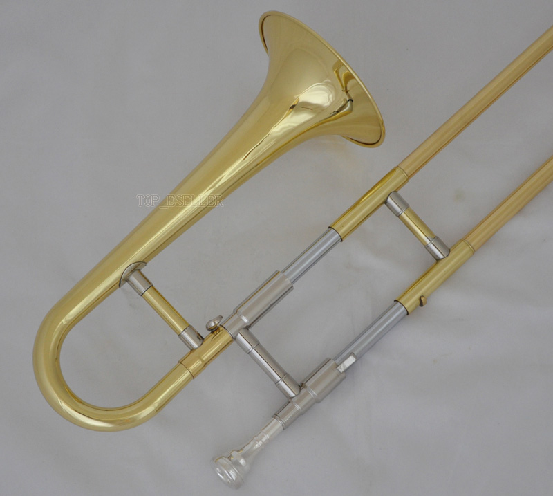 Trombone Bb Gold Lacquer FREE Case Accessories Brand NEW