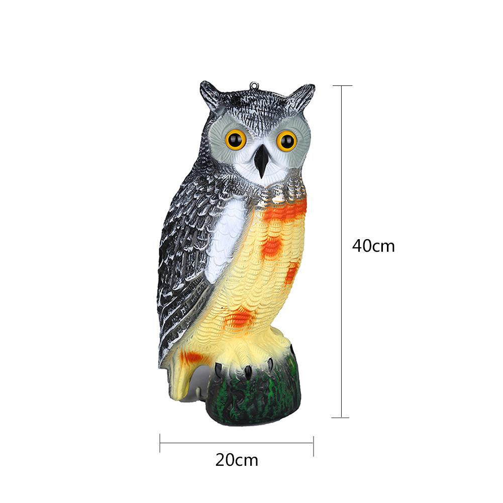 Owl Wind Action Rotating Moving Head Ornament Garden Deter Bird Pest Animal