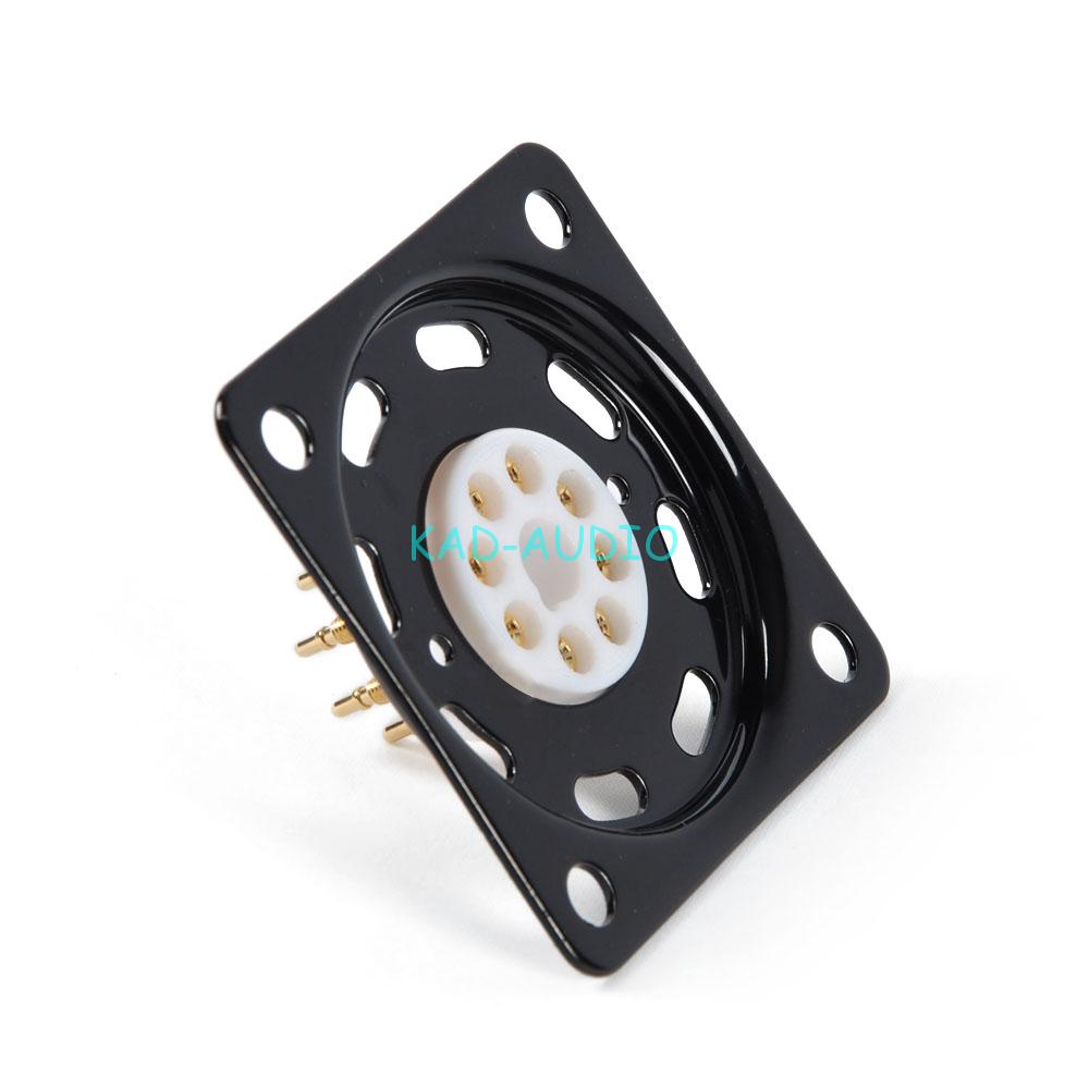 4pc 4pin or8pin Tube Socket Shock Plate Sliver KT88 KT66 EL34 Tube Base mounting