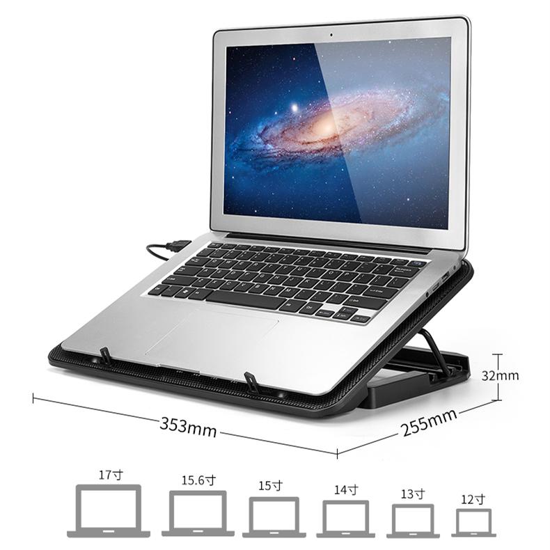 "6 Fans Blue LED USB Port Cooling Stand Pad Cooler For 12/""-15.6/"" Laptop Notebook"
