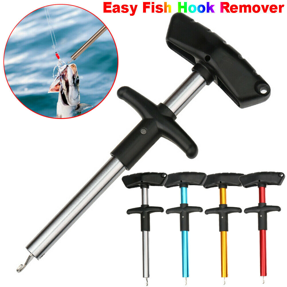 Portable Easy Fish Hook Remover T-Handle Extractor Tackles Detacher Decoupling