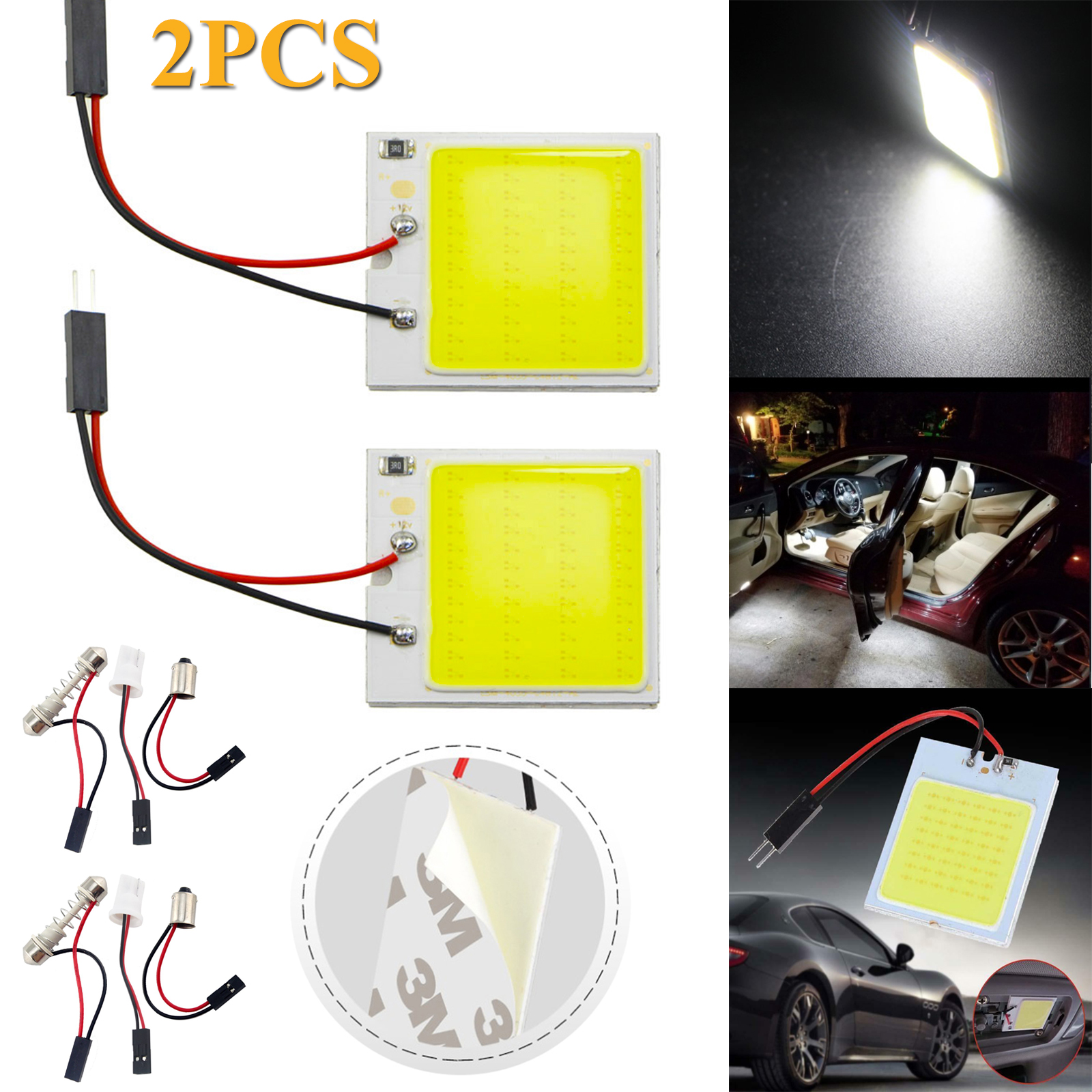 Replacement 6000K White Car Interior 48 5050 SMD LED Light Lamp Panel T10