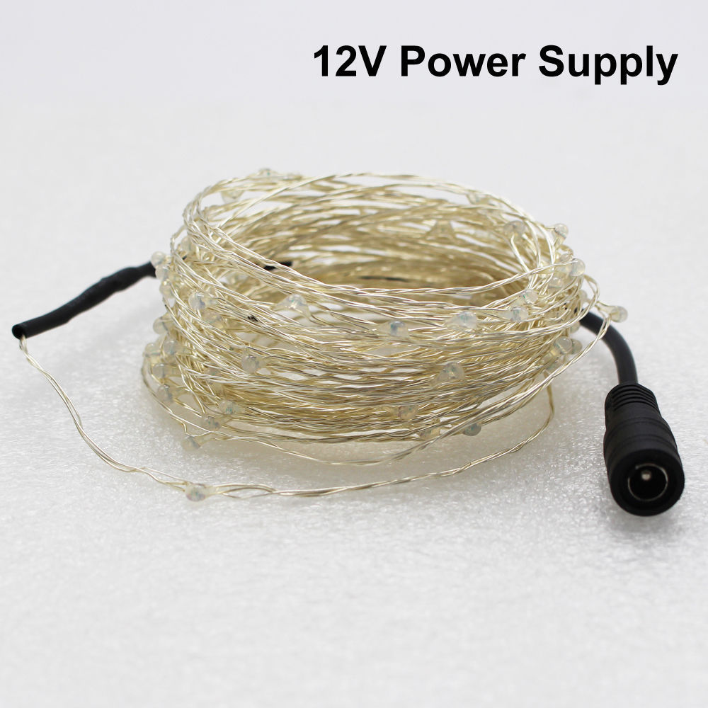 Battery Usb 12v Led String Copper Wire Fairy Lights Lamp