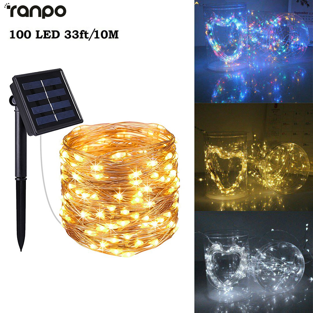 10M//33FT DC 12V 100LED Copper Wire Xmas Wedding Party String Fairy Light Hot MT