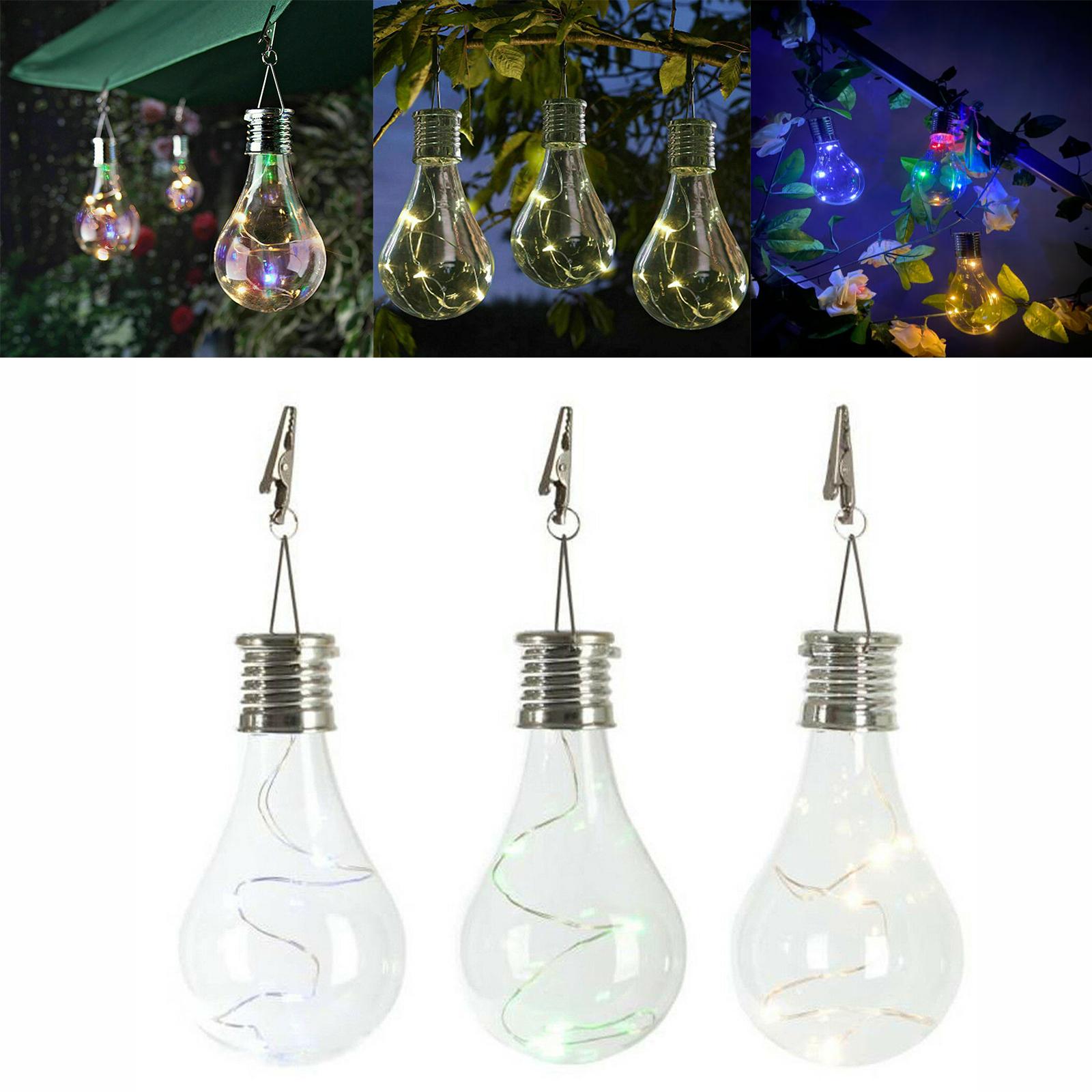 Waterproof Solar Lights Outdoor Garden Decor Camping Led Hanging Lights Lamp Ss Ebay