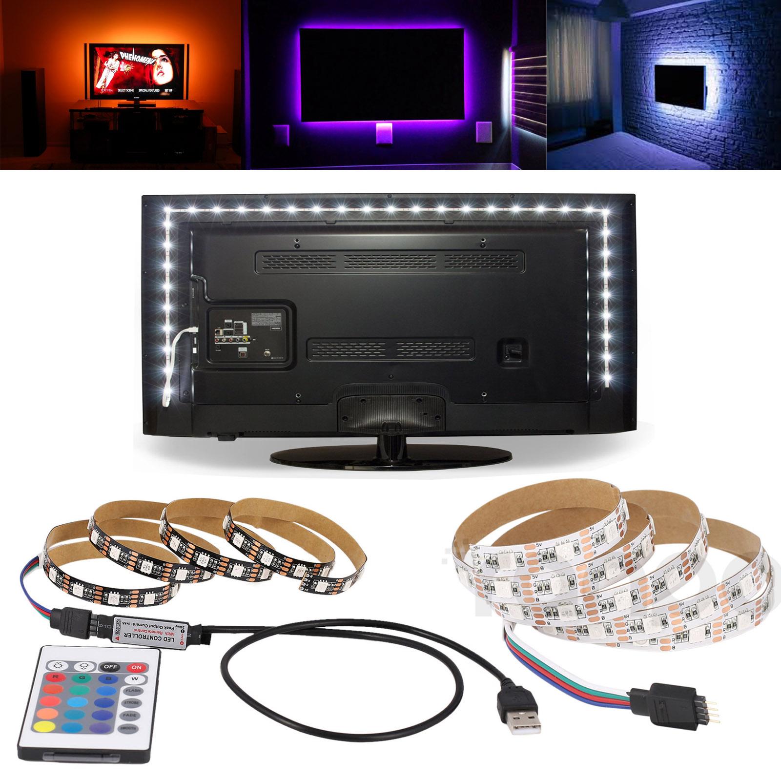USB LED Strip Lights Flex 42 Options From 0,5-5m TV Background USB Lighting