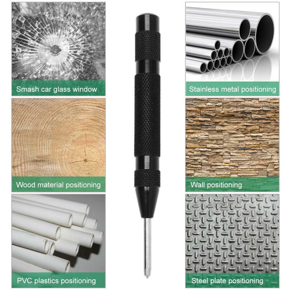 Punzone centrali automatiche a molla metallo 5 cm per legno foro HSS ad alta durezza