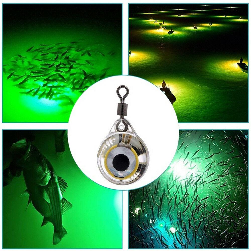 ADMOS Luces de Pesca Luminosas Noche Fluorescente Que Brilla en la Oscuridad Luz subacu/ática LED Se/ñuelo Cebo para Peces