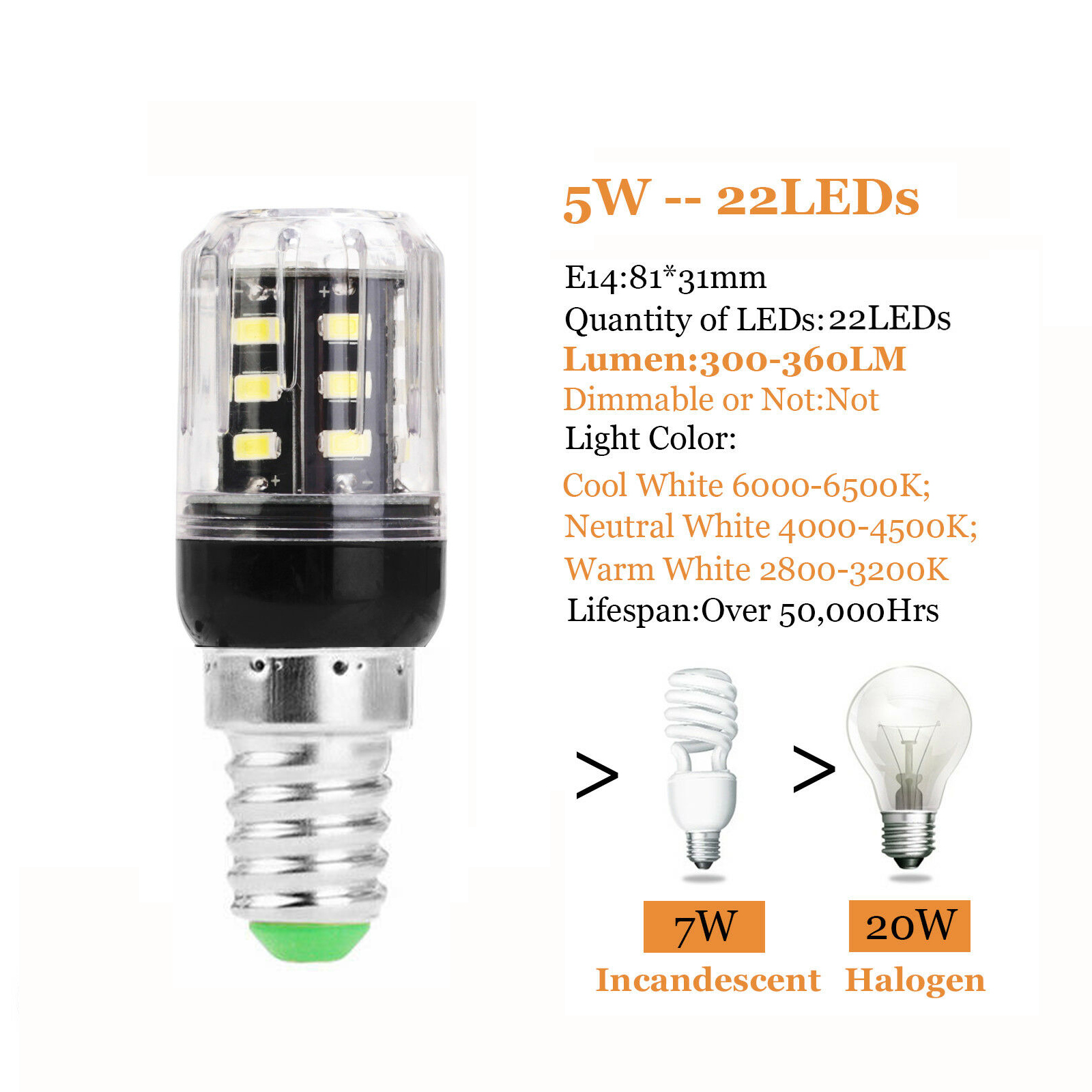 E14 LED Corn Bulb 5W 6W 7W 9W 10W 12W 15W 25W Lights Equival 20W 100W Halogen C