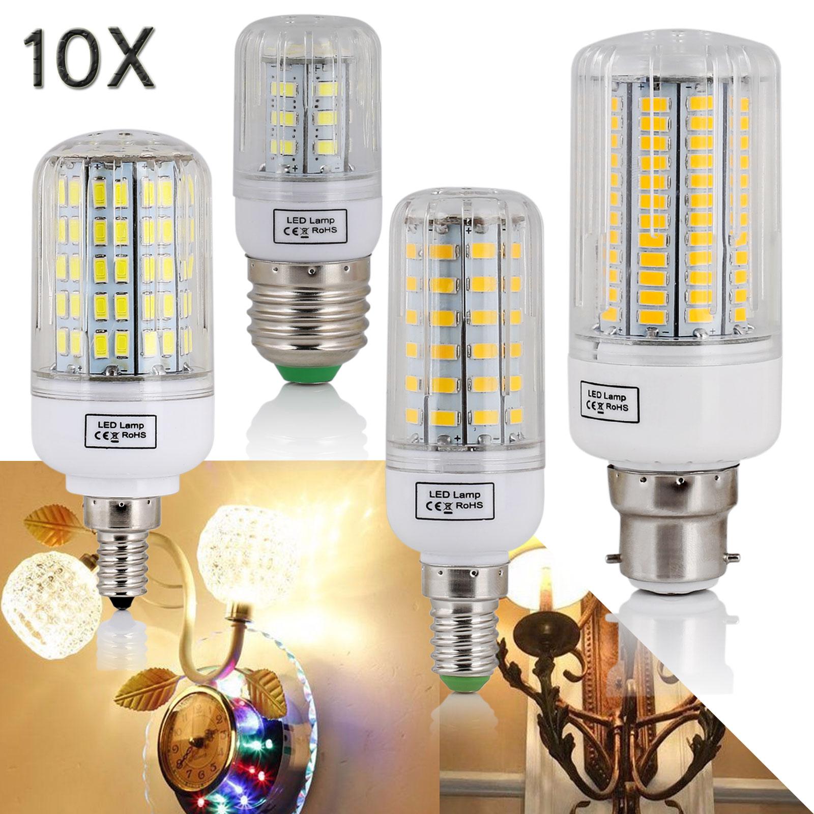 160W E27 E14 E12 B22 LED Corn Bulb 5730 SMD Light Corn Lamp Incandescent 20W