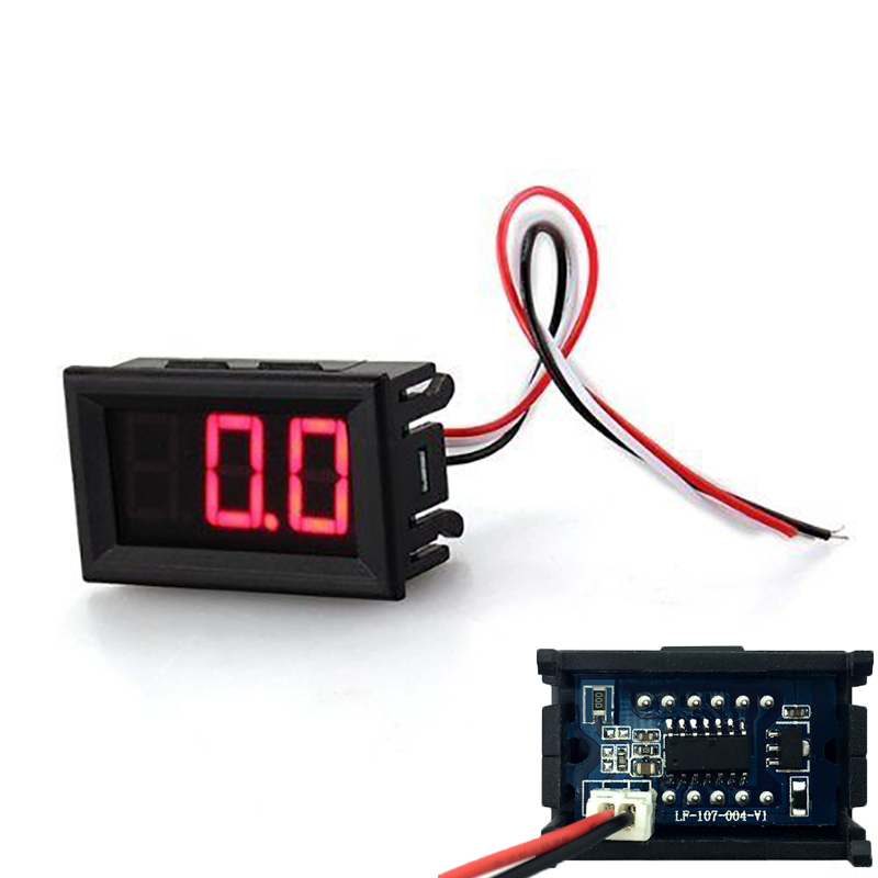 Motorcycle Battery Mini Voltmeter LED Display Digital Tester Car Voltage Test