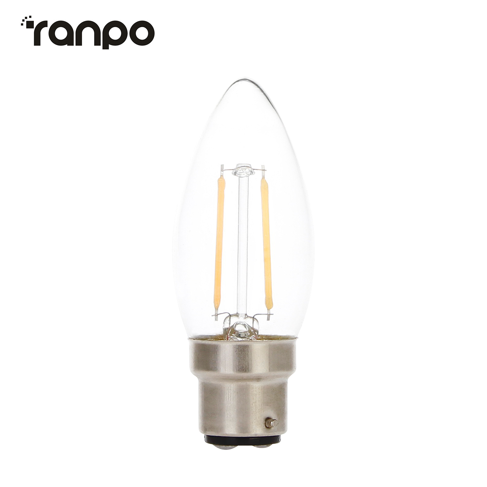 Dimmable Retro LED Chandelier Candle Light Edison Bulb B22 4W 6W Filament Lamp