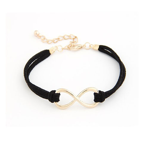 Small Infinity Symbol Cast Iron Womens Bracelet With Adjustable