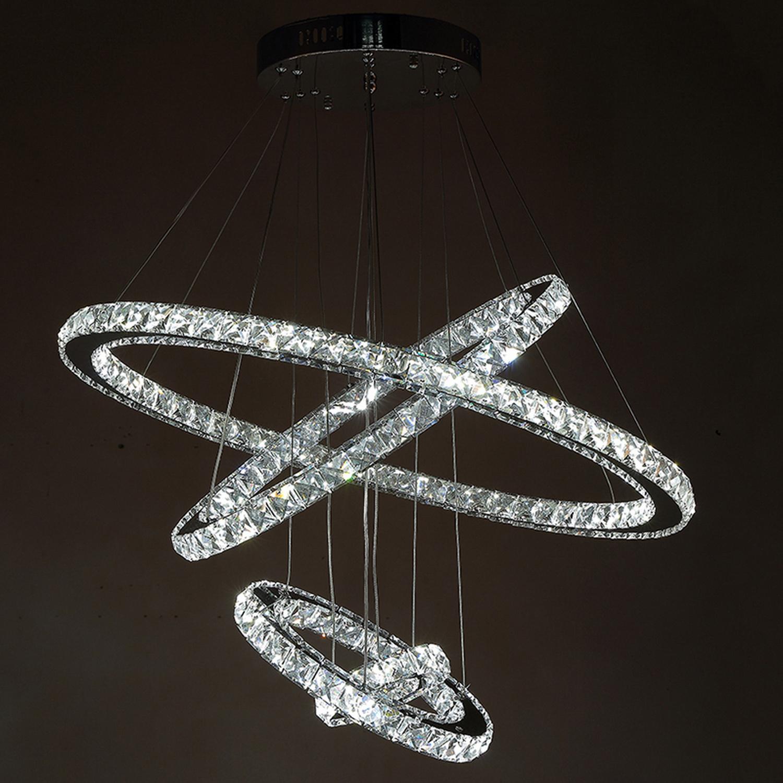 Super Luxury Crystal Ring Chandelier LED Lighting Pendant Fixture