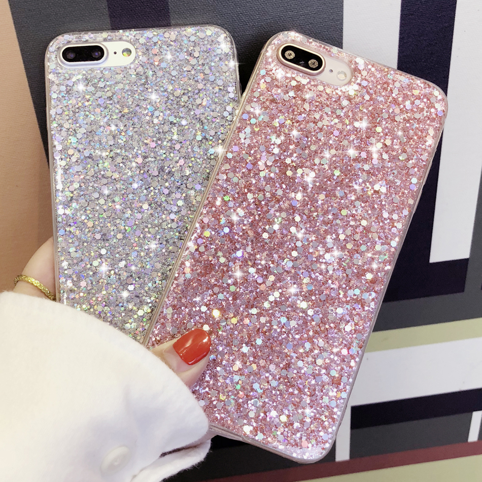 Luxury Women Bling Sparkly Glitter Handmade Phone Case Cover For iPhone  6 7 8+ 5 2bdbf4be5