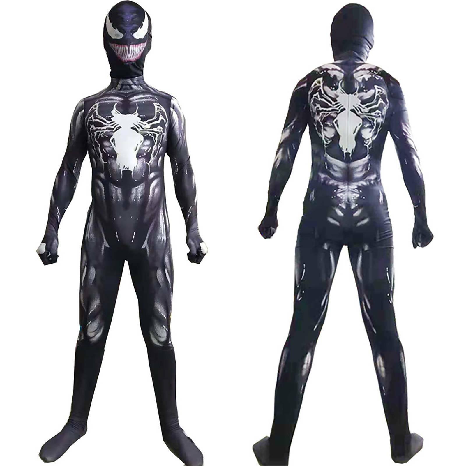 Spider-man Symbiote Black Cat Cosplay Costume Bodysuit
