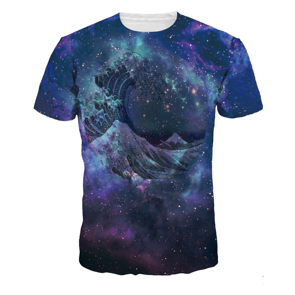 Summer men 3d print short sleeve tops casual slim fit t for Graphic print t shirts