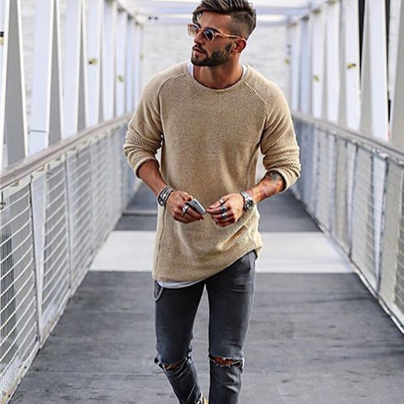 Warm Men/'s Fashion Long Sleeveers Casual Knit Sweater Slim Fit Cardigans