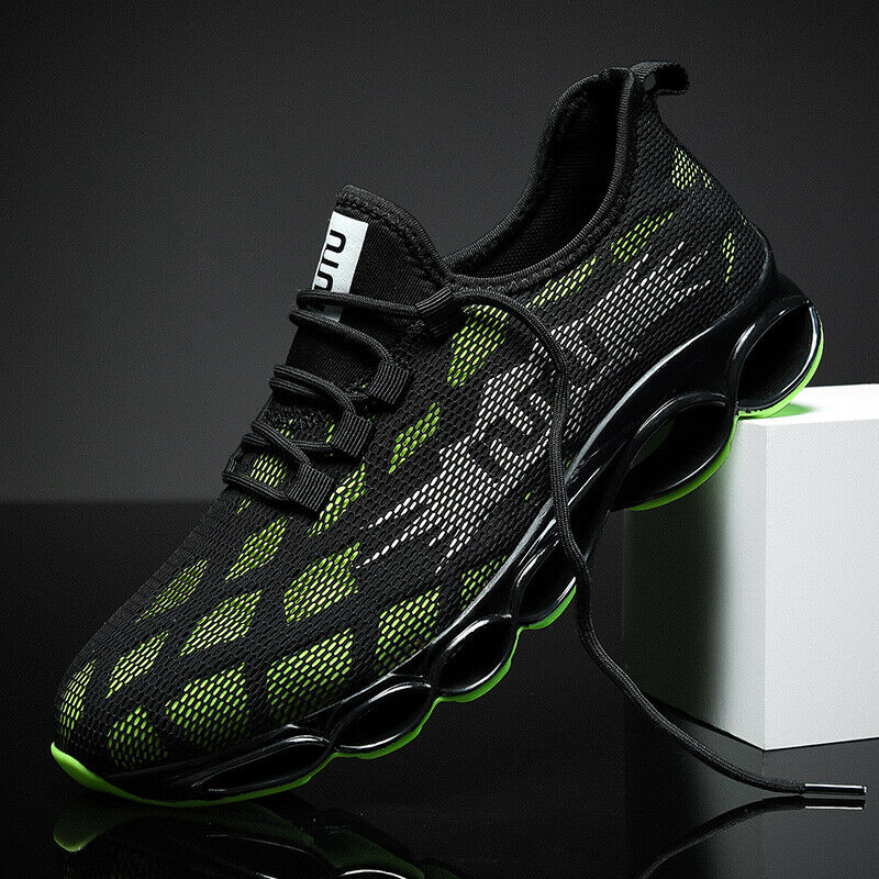 NIUJIN Mens Lightweight Casual Walking Athletic Shoes Breathable Running Slip-on Sneakers Shoes for Outdoor Indoor