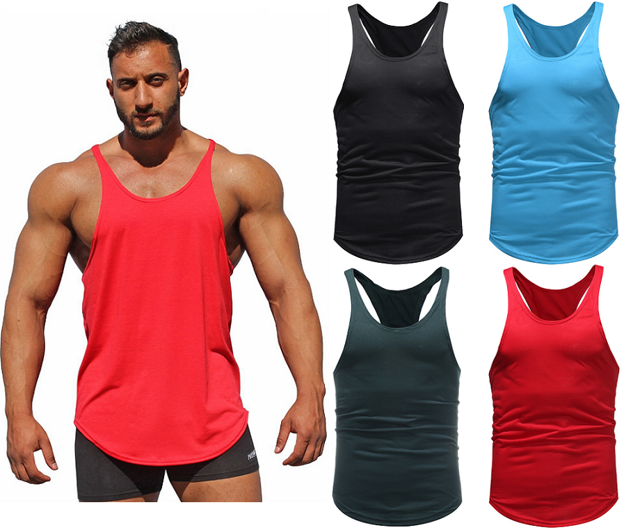 Men/'s gyms Fitness Bodybuilding Tank Tops Singlet Vest sleeveless shirts muscle