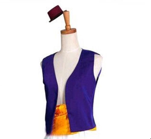 New Animation Aladdin Prince Cosplay Costume Men Clothes uniform Fancy Dress UK