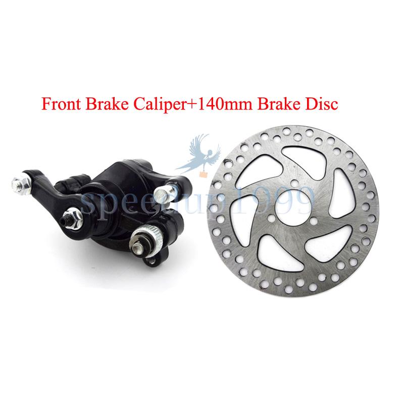 Pocket Mini Dirt Bike Scooter Electric Rear Disc Brake Caliper Kits 140mm Rotors