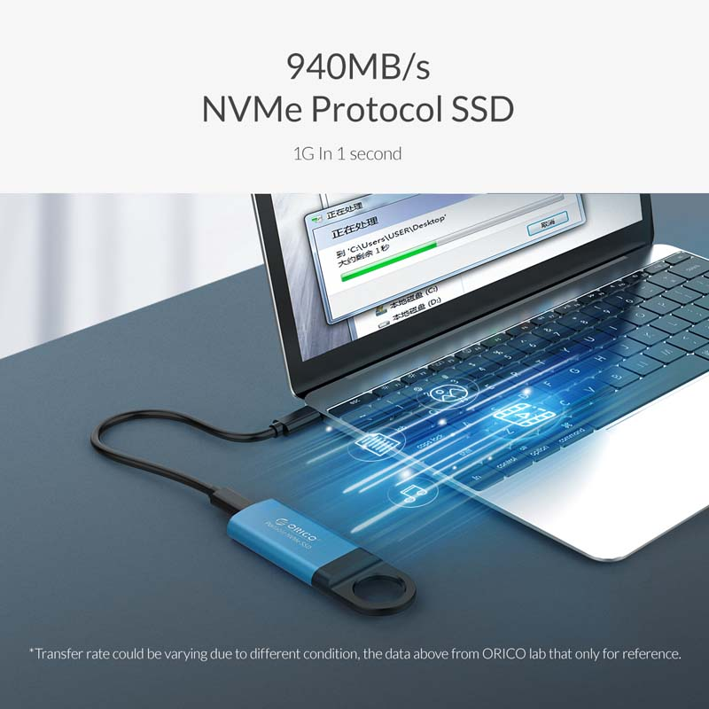 1T Android ORICO Mini External Solid State Drive Portable M.2 NVME SSD Flash Drive with Type-C Port Support Windows 7//8//10 Mac OS Linux
